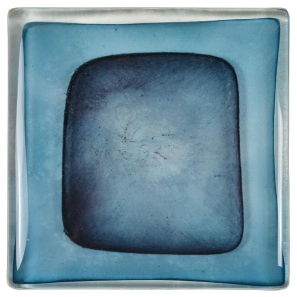 carrelage verre ondes bleu turquoise noir