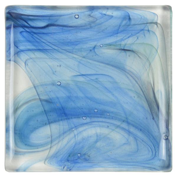 carrelage verre vagues bleu foncé